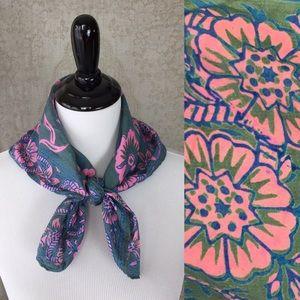 4/$25 Vintage Silk Floral Square Scarf